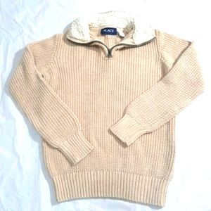 CHILDREN'S PLACE SIZE SMALL 5/6 ZIP UP SWEATER